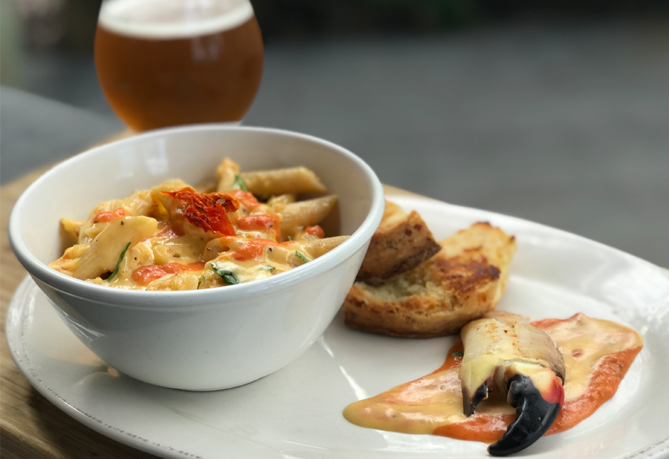 Playalinda Brewing Company - Brix Project - Lunch -Stone Crab Mac