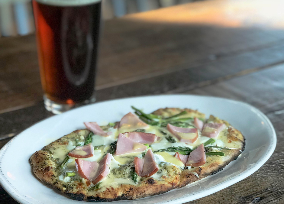 Canadian Bacon Flatbread - Playalinda Brewing Company - Brix Project - January Sunday Brunch