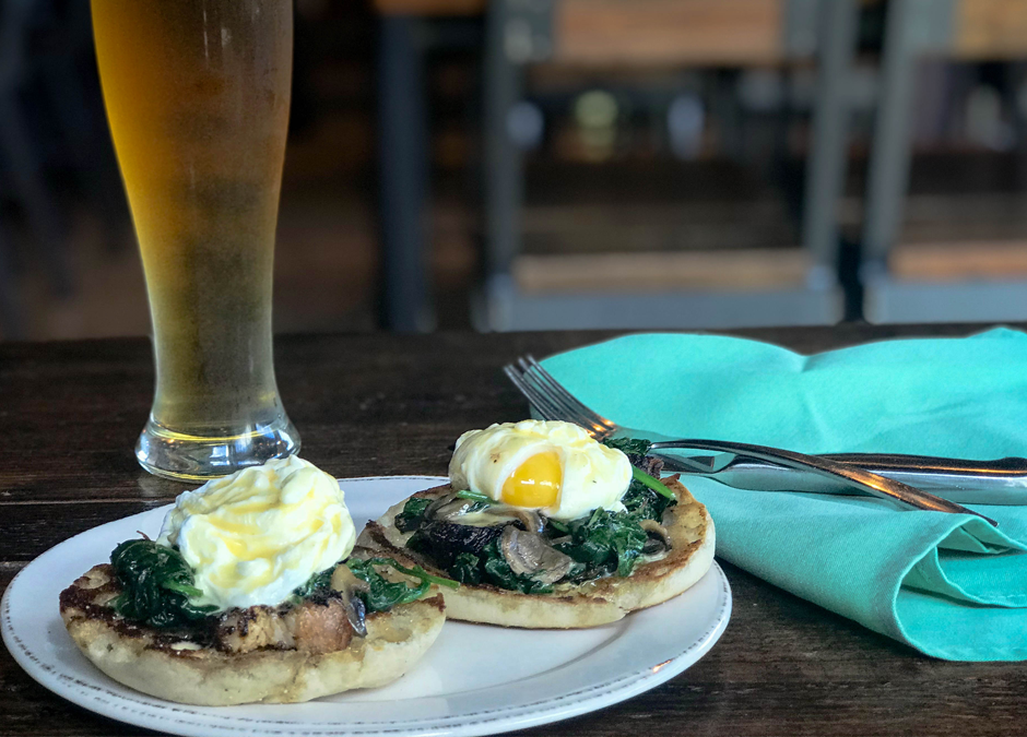 Pork Belly Eggs Benedict - Playalinda Brewing Company - Brix Project - January Sunday Brunch