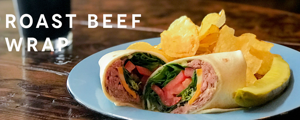 Roast Beef Wrap - Playalinda Brewing Company Hardware Store Brewery Bites Menu