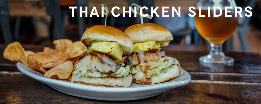 Thai Chicken Sliders - Playalinda Brewing Company Brix Project Full Menu
