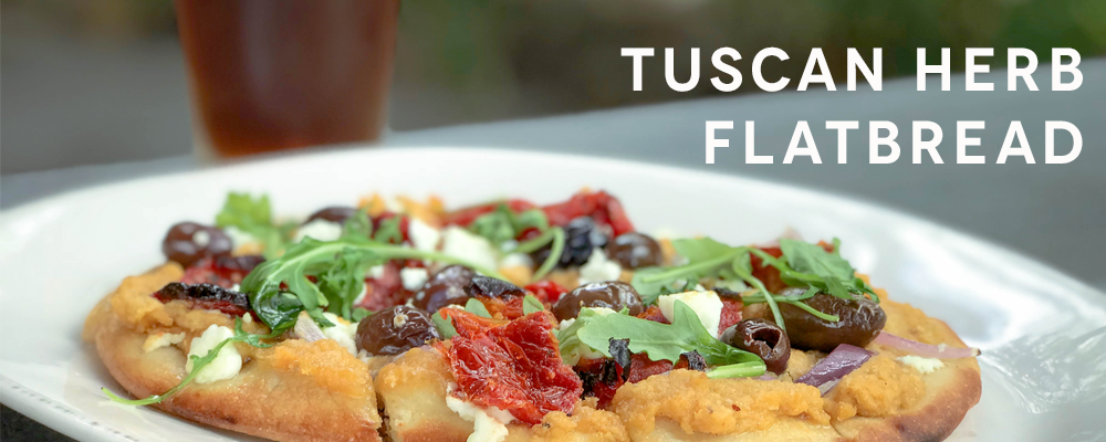Tuscan Herb Flatbread - Playalinda Brewing Company Brix Project Full Menu