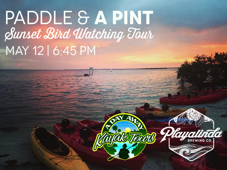 Paddle & A Pint - Sunset and Birding Tour with Playalinda Brewing Company and A Day Away Kayak Tours